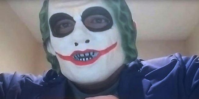 Joker maskesi takıp tehdit savurmuştu: Tutuklandı