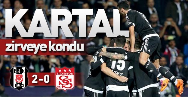 Beşiktaş 2-0 Sivasspor! Kartal zirveye kondu!
