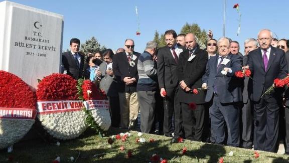 Kılıçdaroğlu Ecevit'in kabri başında: Ecevit hiç yılmadı