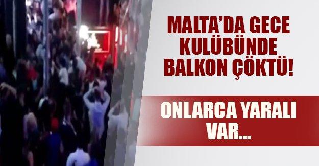 Malta'da eğlence kabusa döndü! Gece kulübünün balkonu çöktü, onlarca yaralı var