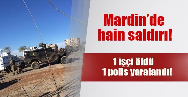Mardin'de hain saldırı! Dargeçit'te polise bomba atıldı, 1 işçi öldü, 1 polis yaralı...
