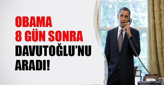 Obama'dan Davutoğlu'na tebrik telefonu! Obama 8 gün sonra aradı