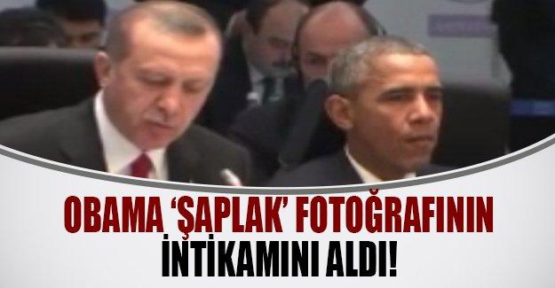 Obama Erdoğan'dan 'şaplak' fotosunun intikamını aldı! Obama Erdoğan'ın yanında sakız çiğnedi