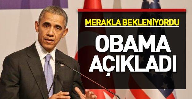 Obama'nın açıklaması tartışmalara son noktayı koydu!