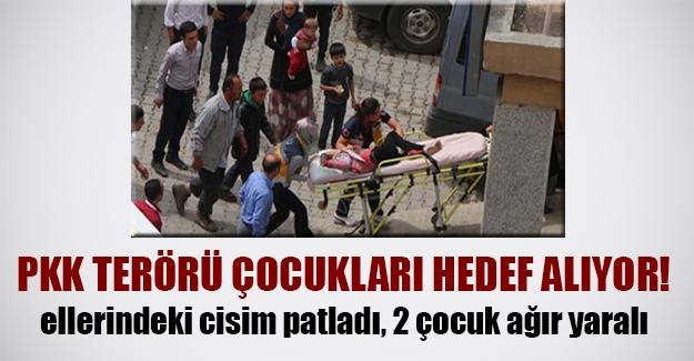 PKK terörü çocukları hedef alıyor! Yüksekova'da buldukları cisim patlayan 2 çocuk ağır yaralandı...