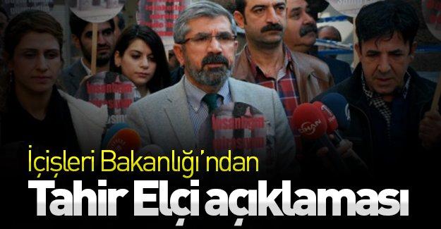 SON DAKİKA: İçişleri Bakanlığı'ndan Tahir Elçi açıklaması!