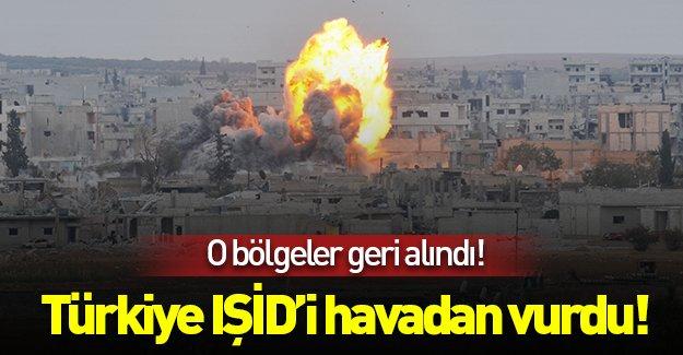 SON DAKİKA: Türkiye IŞİD'i havadan vurdu!