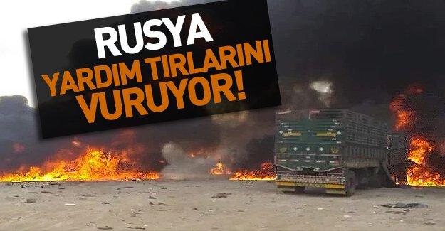 Suriye'de flaş gelişme! Rusya İnsani Yardım Tırlarını Vurdu!
