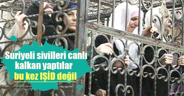 Suriye'de insanlık dışı görüntü! Alevi Suriyeliler kafeslere konularak canlı kalkan yapıldı! Ceyşul İslam ordusu kimdir?