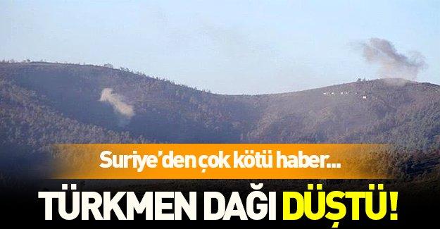 Suriye'den çok kötü haber: Türkmen dağı düştü!