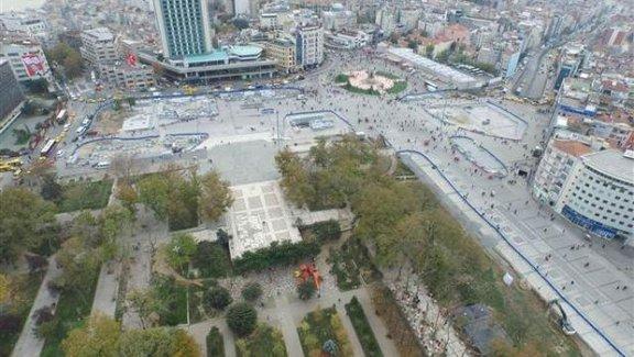 Taksim Meydanında çalışmalar hız kesmiyor