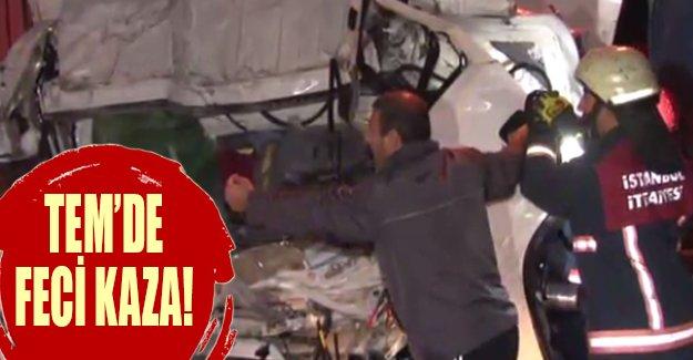 TEM'de korkunç kaza! 6 kişi yaralandı