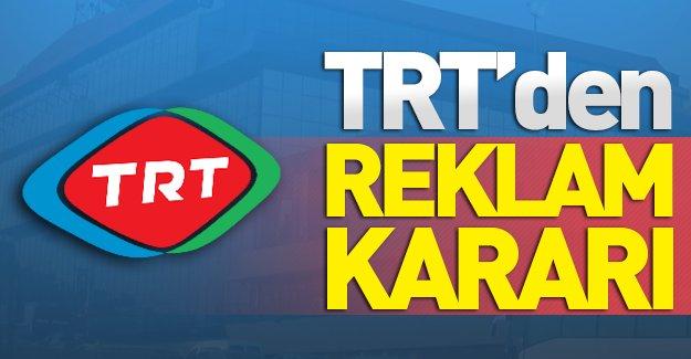 TRT'den reklam kararı! TRT'nin o kanalı artık reklam almayacak!