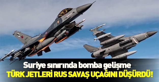 Türk F16'lar Suriye sınırında Rus uçağını düşürdü! Son dakika gelişmesi