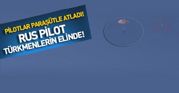 Türk jetlerinin vurduğu uçağın pilotlarından biri Türkmenlerin elinde!