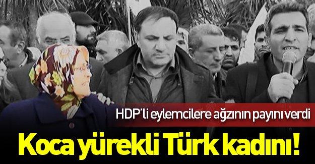 Yaşlı kadın, HDP'li eylemcilere tepki gösterdi: ''Daha ne istiyorsunuz?''