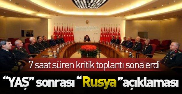 Yüksek Askeri Şura toplantısı sona erdi! YAŞ sonrası ''Rusya'' açıklaması!
