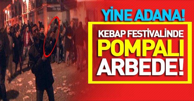 Adana Kebap ve Şalgam Festivali'nde silahlar konuştu