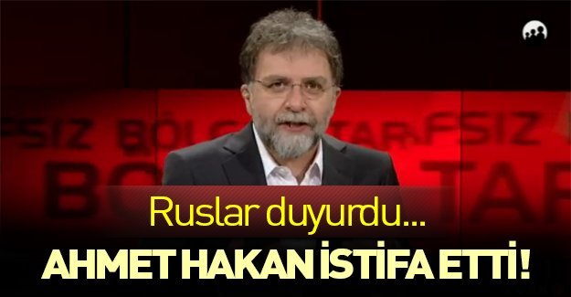 Ahmet Hakan CNN Türk'ten istifa etti!