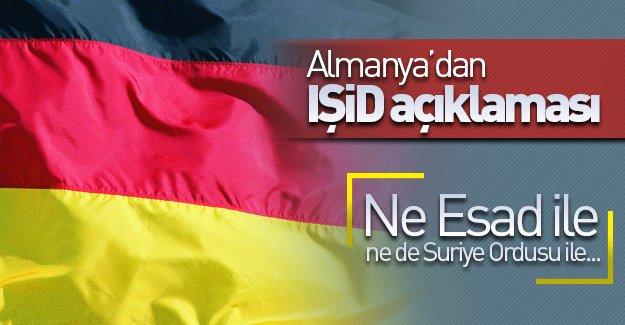 Almanya'dan IŞİD açıklaması: ''Ne Esad ne de Suriye Ordusu ile...''