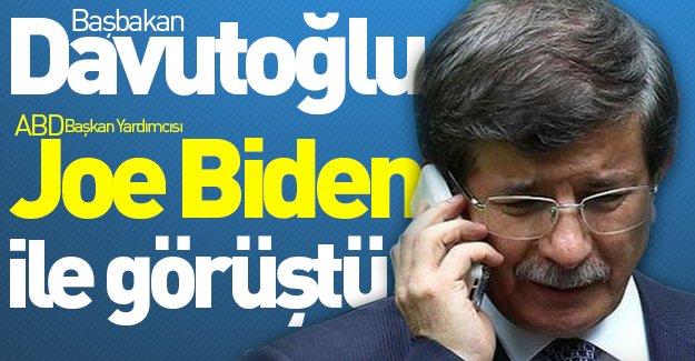 Başbakan Davutoğlu, ABD Başkan Yardımcısı Biden ile görüştü!