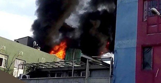 Bayrampaşa'da tekstil atölyesinde korkutan yangın