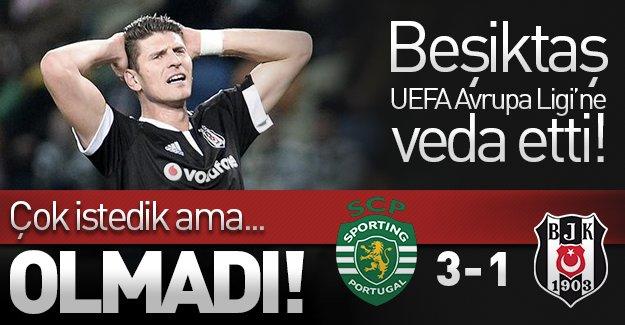 Beşiktaş, UEFA Avrupa Ligi'ne veda etti! (Sporting Lizbon 3-1 Beşiktaş)