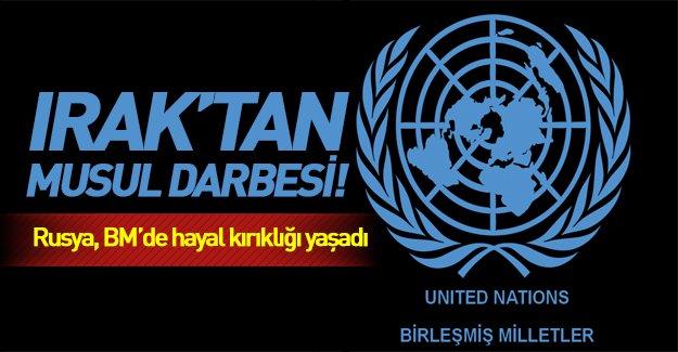 Birleşmiş Milletler'de Rusya'ya soğuk duş