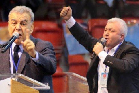 CHP İzmir kongresinde Tuncay Özkan-Aziz Kocaoğlu kavgası!