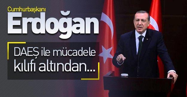 Cumhurbaşkanı Erdoğan'dan önemli açıklamalar! ''DAEŞ ile mücadele kılıfı altından...''