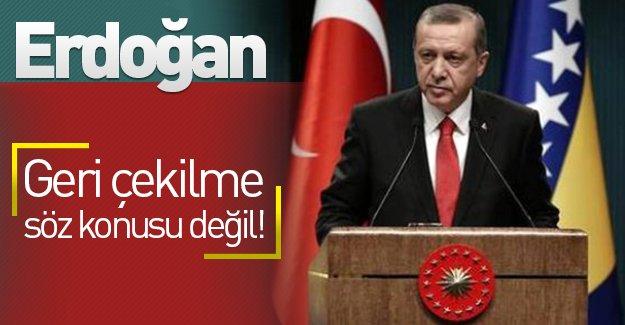 Cumhurbaşkanı Erdoğan, Dragan Çoviç ve Bakir İzzetbegoviç ile görüştü! Erdoğan: ''Geri çekilme söz konusu değil!''