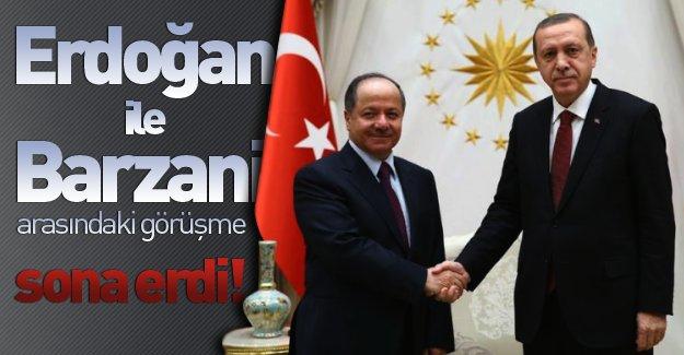 Cumhurbaşkanlığı Sarayı'nda gerçekleşen Erdoğan-Barzani görüşmesi sona erdi!