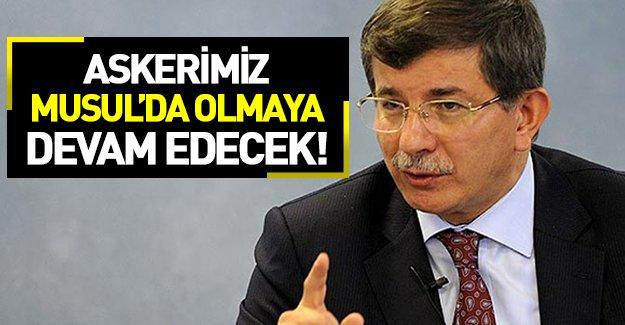 Davutoğlu'ndan flaş Musul açıklaması!