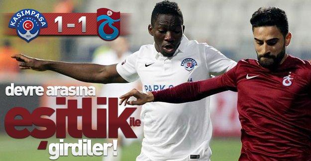 Devre arasına eşitlikle girdiler! (Kasımpaşa 1-1 Trabzonspor) Maç özeti!