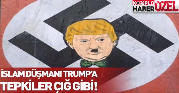 Donald Trump'a öfke çığ gibi büyüyor! Hitler'e benzetilen Trump'ı bakın nasıl protesto ettiler