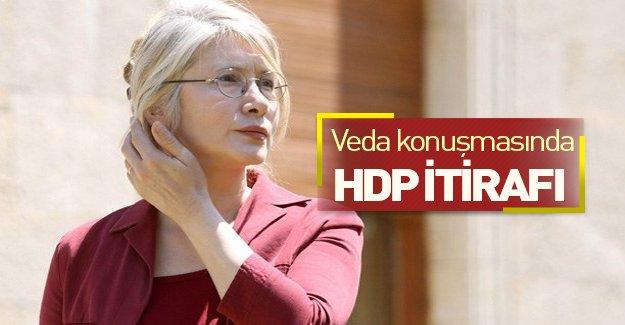 Emine Ülker Tarhan'dan HDP itirafı