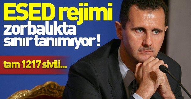 ESED rejimi zorbalıkta sınır tanımıyor! Rejim güçleri tam 1217 sivili...
