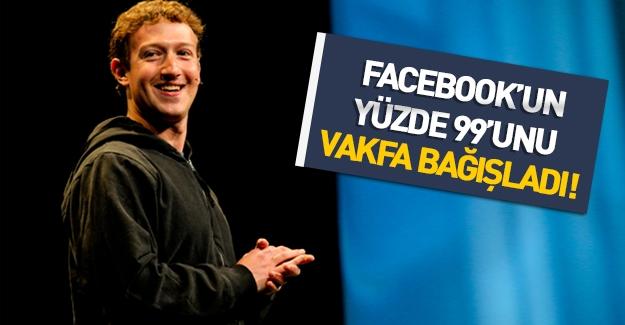Facebook'un kurucusu Mark Zuckerberg servetini bağışladı