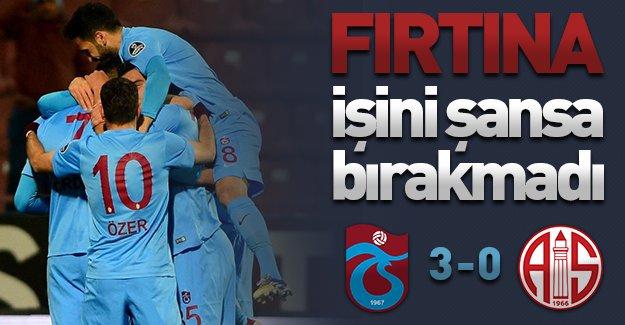 Fırtına işini şansa bırakmadı, 3 puanı 3 golle aldı! (Trabzonspor 3-0 Antalyaspor)