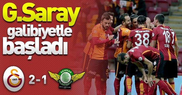 Galatasaray Türkiye Kupası'na galibiyetle başladı! (Galatasaray 2-1 Akhisar Belediyespor)