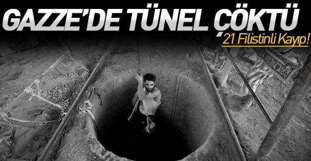 Gazze'de facia! Tünel çöktü: 21 Filistinli kayıp!