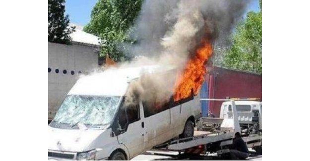 HDP minibüsünü yaktı,  24 yıl hapsi istendi!