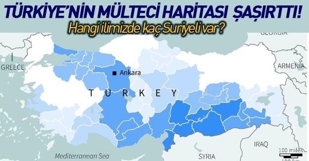 İşte il il Suriyelilerin Türkiye'ye dağılımı