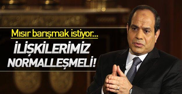 Mısır'dan Türkiye'ye zeytin dalı! Sisi barışmak mı istiyor?