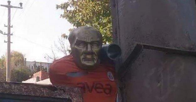 PKK'lı teröristler hendeğe Atatürk büstü koydu