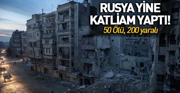 Rus uçakları Şam'da sivilleri vurdu: 50 ölü