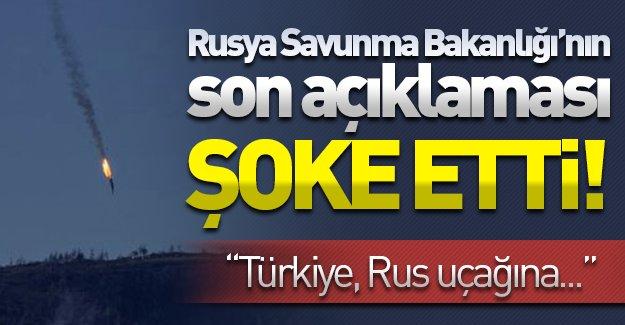 Rusya'nın son açıklaması şoke etti! ''Türkiye, Rus uçağına...''