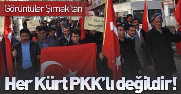 Şırnak halkı PKK'yı böyle protesto etti!