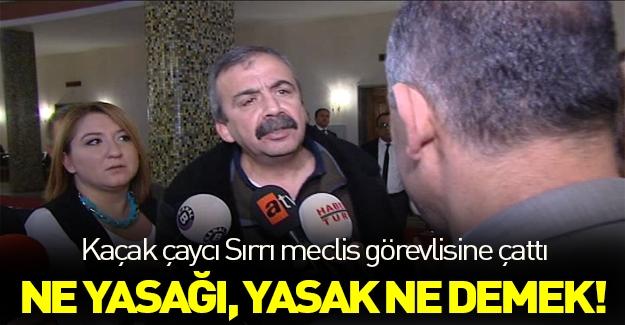 Sırrı Süreyya Önder'i kızdıran müdahale