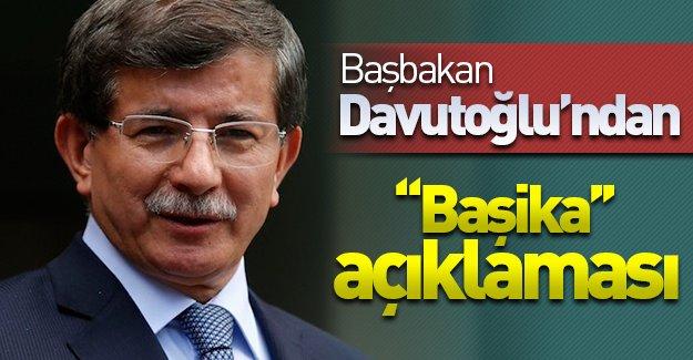 SON DAKİKA: Başbakan Davutoğlu'ndan ''Başika'' açıklaması!